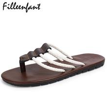 Cuir Hommes Sandales Loisirs Mode plage caoutchouc Chinelo Masculino Slipper pour des chaussures Accueil ZpLODZXaq