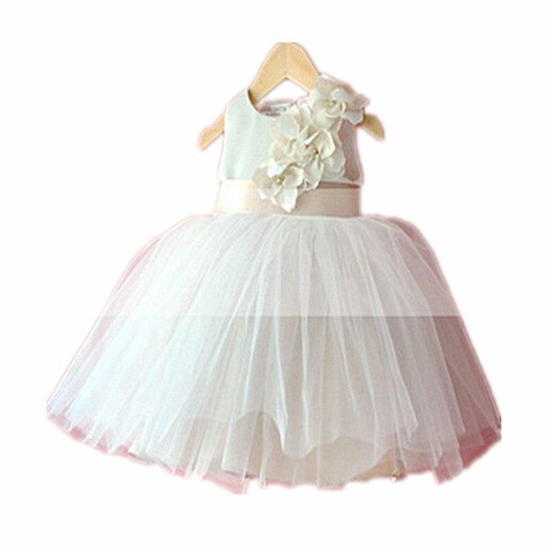 ФОТО BBWOWLIN Baby Clothes Flower Baby Girl Clothes Aestheticism Summer Dress Princess Tutu Chiffon Newborn Baby Dresses 80111