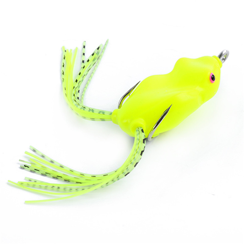 8 Colors Soft Frog Fishing Lure Crankbaits Tackle Bass Hook Artificial Bait 3D Eyes Simulation Ray Frog Large Topwater Lure 1pcs fishing lure bait minnow with treble hook isca artificial bass fishing tackle sea japan fishing lure 3d eyes