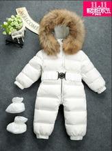 Russia Winter Baby Snowsuits children Jumpsuit maintain -25 18M-4T Boy Girls Warm pure fur Down Jacket Kids Clothes Infantil Rompers