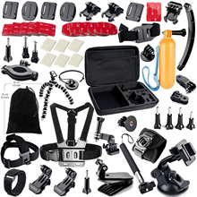 Gopro Accessories Kit Eva Bag Buoyancy Chest Holder Head Support for Sjcam Xiaoyi Hero3 Hero3+ Hero4 Sj4000 Sj5000 Sj3000
