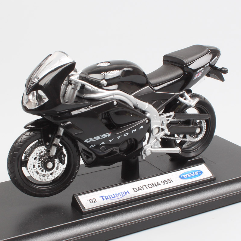 1:18 Scale Welly Mini Triumph Daytona 955i Sport Motorbike Motorcycle Diecast Model Miniatures Toys Gifts For Kid's Collectibles