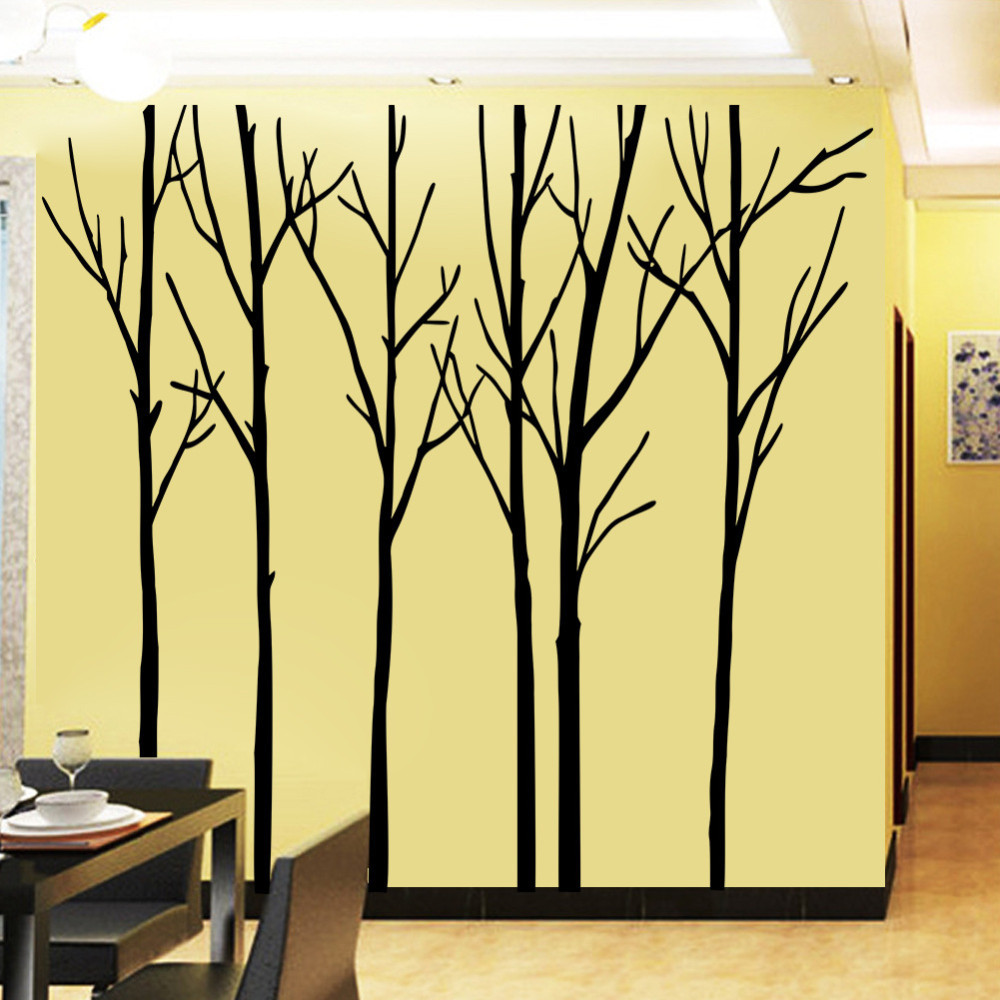 Big Trees Australia Forest Removable Wall Art Stickers PVC Wallpaper ...