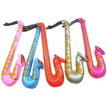 1pc 70cm Funny Inflatable Random Color Blow Up Rock&Roll Saxophone Disco Holiday Party Music Toy Musical Instruments Toys Baby(China)
