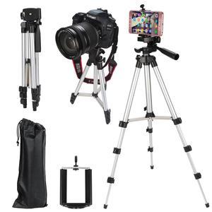 Image 5 - KOOYUTA profesyonel alüminyum kamera Tripod standı tutucu telefon tutucu naylon taşıma çantası iPhone Smartphone için dört kat yüksek