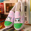 Wholesale and retail 2017 women's casual shoes hot, spring and autumn fashionable girl canvas shoes hand-painted shoes large siz