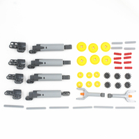 46pcs TECHNIC LINEAR ACTUATOR PRO KIT Cylinder Piston power functions robot car gear axle connector pack compatible with lego
