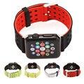 Двойного назначения Марки Silicon Спорт Ремешок Ремешок для Apple Watch 38/42 мм 1:1 Оригинальный Черный/Серый Серебристый iwatch ремешки FOHUAS
