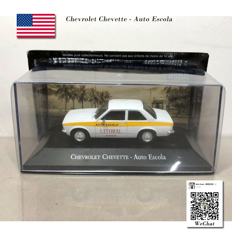 IXO 1/43 Car Model Toys CHEVROLET Chevette AUTO ESCOLA Diecast Metal Car Model Toy For Collection,Gift,Kids