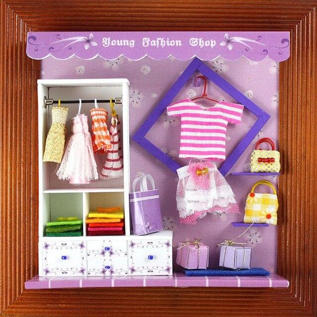 13625 молодежная одежда хонгда поделки Альбом деревянный кукольный домик миниатюрный кукольный домик миниатюры для украшения бесплатная доставка