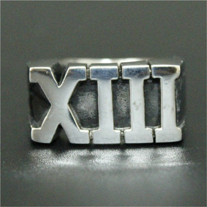 1pc Newest Design Roma Number XIII Ring 316L Stainless Steel Cool Fashion Men Boy Gothic Punk Ring