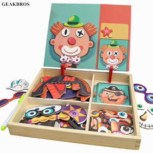 3D Wooden Magnetic Puzzle Toys