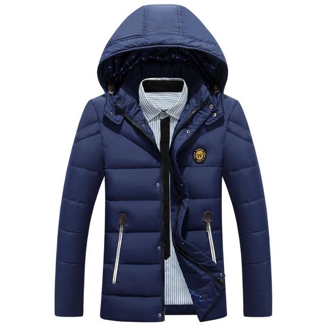 Thicken winter jacket men hooded Design Fashion Casual Warm Parka Coats Male hoodie white duck down jacket men 3XL Outerwear 832
