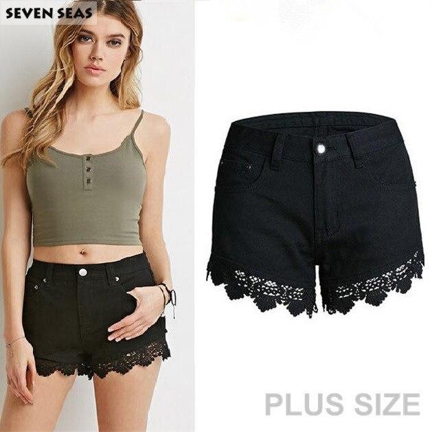 Fashion New Summer Sexy Crochet Lace Shorts Women Plus Size 4xl