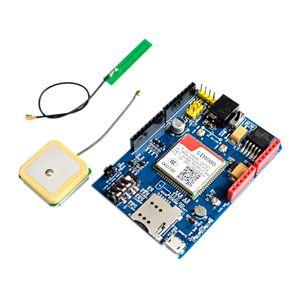 Image 1 - عالية الجودة SIM808 جي بي آر إس/جي إس إم + نظام تحديد المواقع درع 2 في 1 درع جي إس إم جي بي آر إس مجلس التنمية SIM808 وحدة لاردوينو