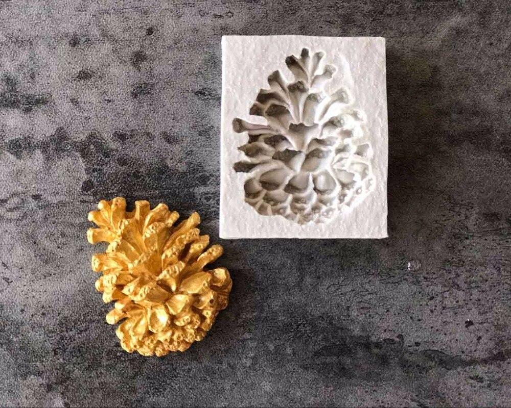 1 шт. шишковидной силиконовые формы помадка плесень торт украшая инструменты шоколад gumpaste Плесень B078
