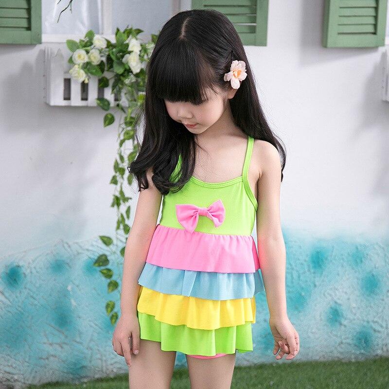 4abb6e11e Rainbow Pattern Baby Girls One Piece Swim Suits Toddler Baby Beach ...