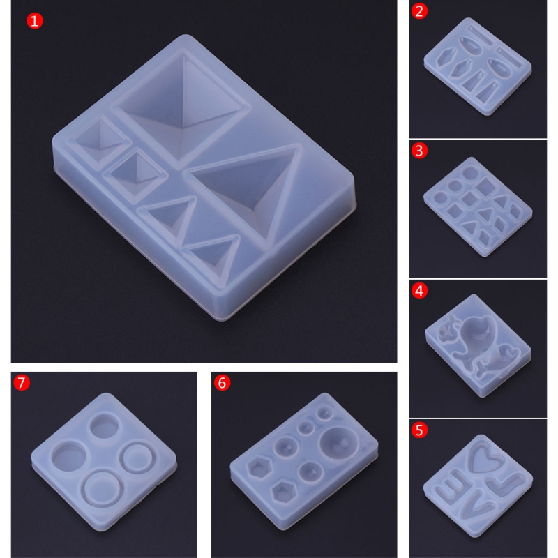Silicone Mold DIY Jewelry Making Geometric Crafts Mirror Decorative Epoxy Resin Fondant Cake Decorating