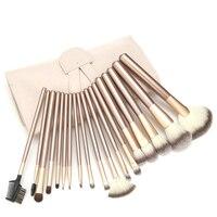Champagne Bag Of 12 18 24pcs Makeup Brush Sets Professional Cosmetics Brushes Powder Foundation Make Up