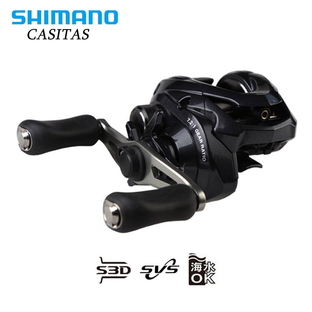 SHIMANO CASITAS Baitcasting fishing reel 7.2:1 4+1BB 5.5kg Power S3D spool with strength body Smooth light fishing reels 100% original shimano alivio spinning fishing reel 1 1bb with original nylon fishing line ar c spool rigid body fishing reels