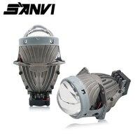 Sanvi 3inch 35W 5500K Hi Low Beam Car Light Super Bright Bi LED Projector Lens Headlight Car Light Bulb Retrofit Kits