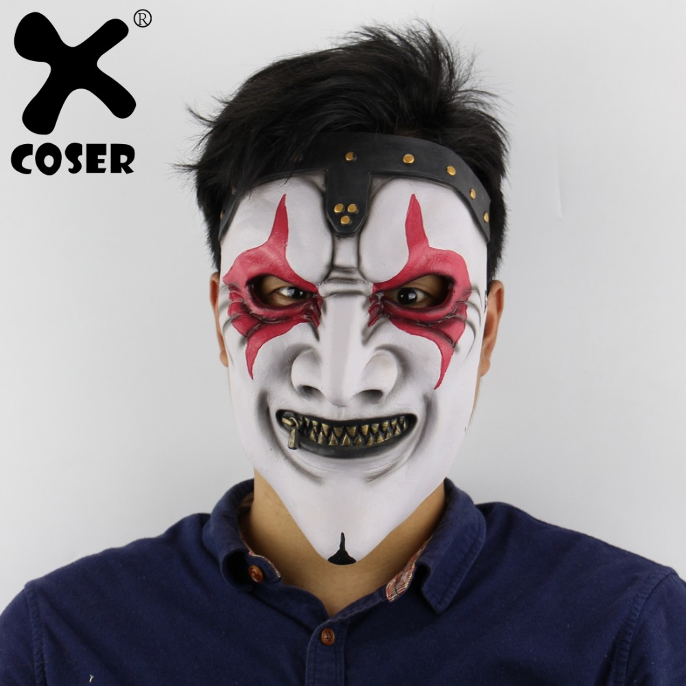XCOSER Clearance Cheap Sale Slipknot Band James Zipper Mouth Party Mask Halloween Horror Scary Haunted House Layout Latex Masks