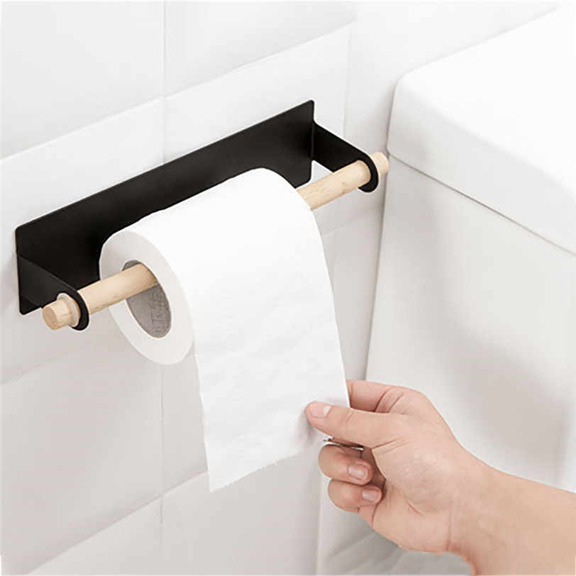 Wall Mount Paper Towel Holder Under Cabinet For Kitchen Bathroom