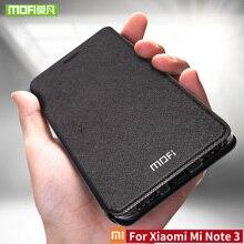 Bộ thuỷ sản Đối Với Xiao mi mi Lưu Ý 3 trường hợp Đối Với Xiao mi mi Lưu Ý 3 Pro trường hợp che silicon sang trọng lật da gốc Đối Với Xiao mi mi Note3 trường hợp