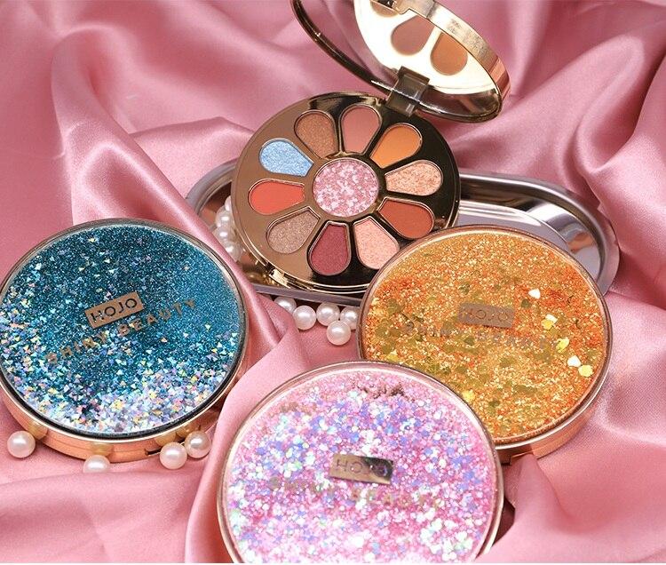 11 Color Shimmer Matte Palette Glitter Eyeshadow Shiny Makeup Palette Eyeshadow Pallete Pigment Nude Smoky Waterproof Cosmetic in Eye Shadow from Beauty Health