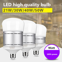 Wysokiej jakości energooszczędne żarówki LED E27 super jasne handlowa/gospodarstwa domowego żarówki białe światło 21 W 30 W 40 W 100% Watt