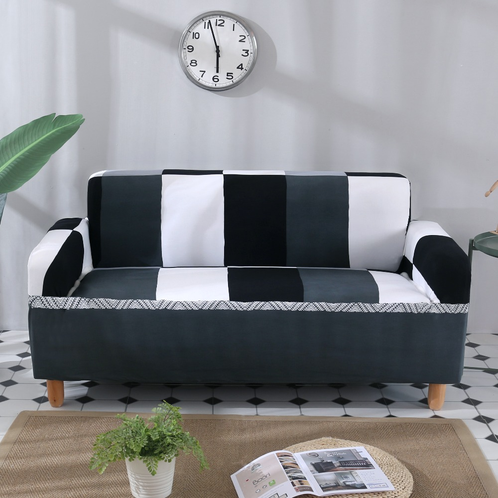 Pleasing Us 16 44 28 Off Solid Universal Anti Dirty Black White Armless Couch Sofa Covers For Room Stretch Sofa Bed Covers Elastic Sofa Bed Slipcovers In Pdpeps Interior Chair Design Pdpepsorg
