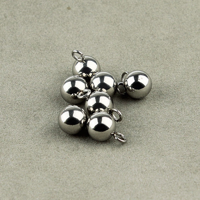 10pcs/lot 4/6/8mm Stainless Steel Ball Earrings Findings Accessories For Making Drop Earrings F2262
