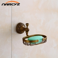 New Soap Dishes Antique Bronze Finish Brass Decorative Soap Basket Soap Dish Carved Soap Holder Bathroom Accessories 9195K