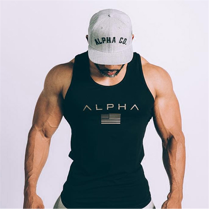 Men Summer gyms Fitness bodybuilding Hooded   Tank     Top   fashion mens Crossfit clothing Loose breathable sleeveless shirts Vest