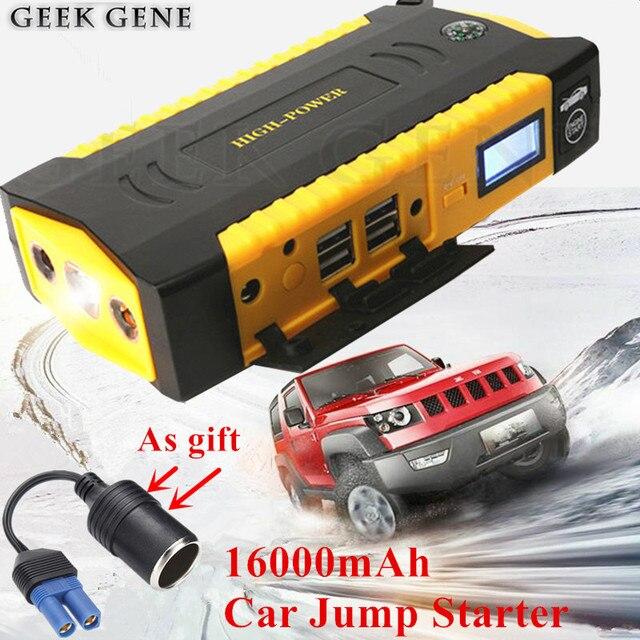 2018 Car Jump Starter 16000mAh Emergency Starting Device Power Bank 600A 12V Car Charger For Car Battery Booster Car Starter LED