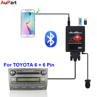 Car Radio MP3 Bluetooth USB AUX Adapter 3.5mm Interface CD Changer for TOYOTA Corolla Camry Avensis RAV4 Auris Yaris for Lexus