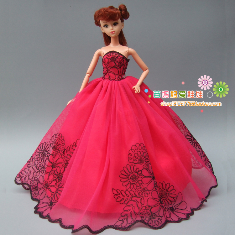 Online buy wholesale bride barbie from china bride barbie for Barbie wedding dresses for sale