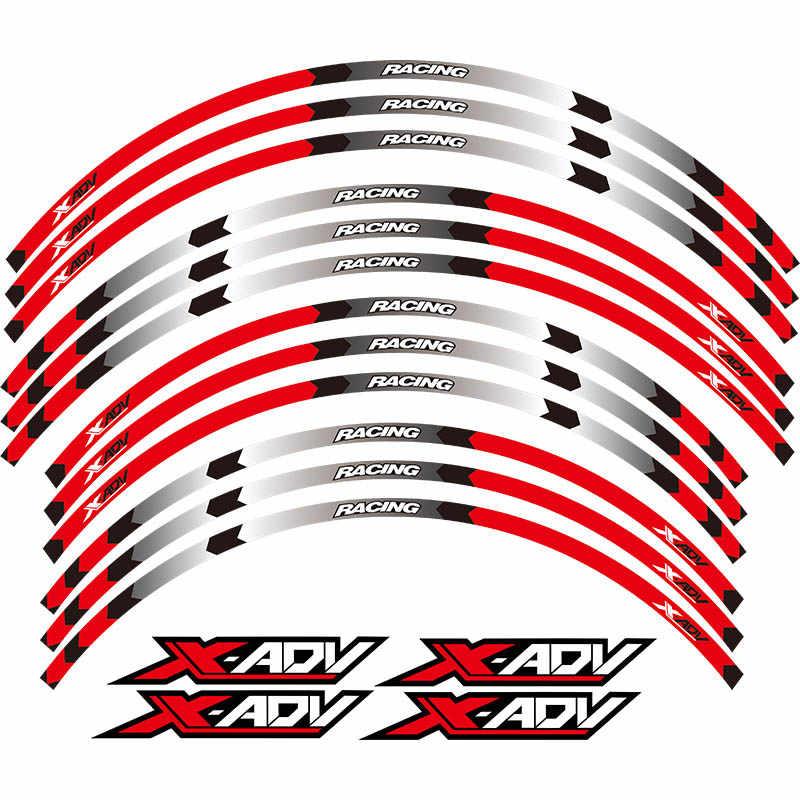 Горячая продажа Мотоцикл Передние и задние колеса край внешний обод наклейки светоотражающие полосы колесные наклейки для HONDA XADV 2017 2018