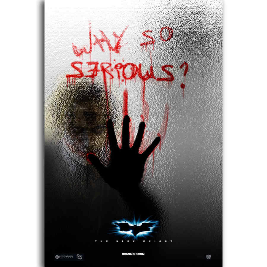 S362 Batman The Dark Knight The Joker Dc Movie Wall Art Painting Print On Silk Canvas Poster Home Decoration