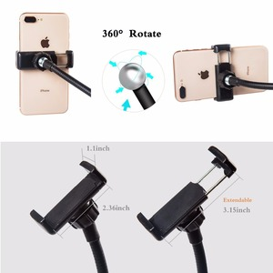 Image 5 - Dimmable Selfie Ring Light with Flexible Mobile Phone Holder Lazy Bracket Desk Lamp LED Light for Live Stream Office Kitchen