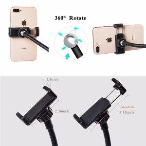 Image 5 - 調光対応 Selfie リングライト柔軟な携帯電話ホルダー怠惰なブラケットデスクランプ Led ライトライブストリームオフィスキッチン