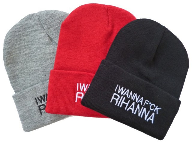 4c169ee49fa Fashion summer hat new styles AIN T NO WIFEY Classy Beanie in Black   red    grey hip hop men   women s designer beanies hats