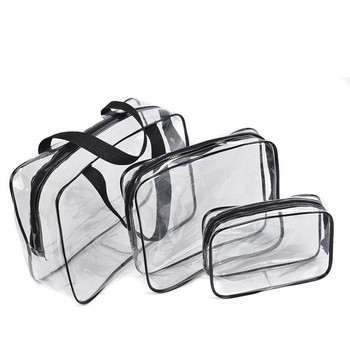 Transparent PVC Bags Travel Organizer Clear Makeup Bag Beautician Cosmetic Bag Beauty Case Toiletry Bag Make Up Pouch Wash Bags Makeup Bags & Cases