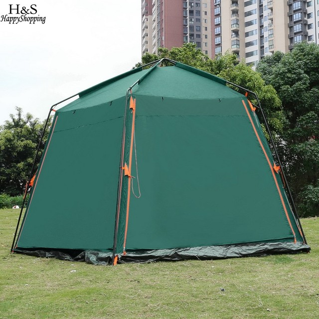 New c&ing tent 3000mm Waterproof 8-Person Automatic Instant Tent Outdoor Green C&ing Hiking 163.8x142.4x87.8 inch & New camping tent 3000mm Waterproof 8 Person Automatic Instant Tent ...