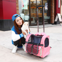 Pets carry dog Totes Fashion Pet Portable Luggage Carrier Dog Bag pet bag pet trolley luggage