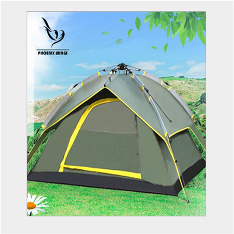 Camping tent Naturehike 3-4 person Beach Travel Tents 3 seasons Waterproof Outdoor Fishing Camping Equipment Automatic Tent outdoor double layer 10 14 persons camping holiday arbor tent sun canopy canopy tent