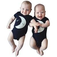 2016 fashion baby boys romper star moon printed Newborn baby girl jumpsuits summer style baby girls boys clothes vestido recien
