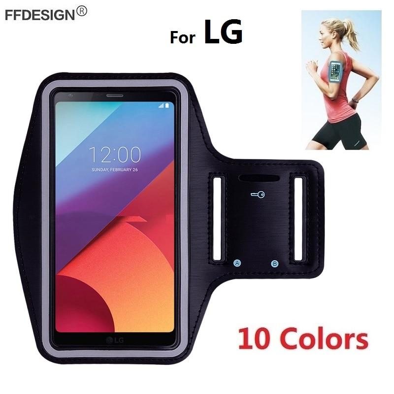 Arm Band Running Sports Bracelet Phone Case For LG G7 G8 Thinq G6 G5 G4 G3 K11 K8 K10 2018 2017 K40 K50 Phone Bag Case On Hand