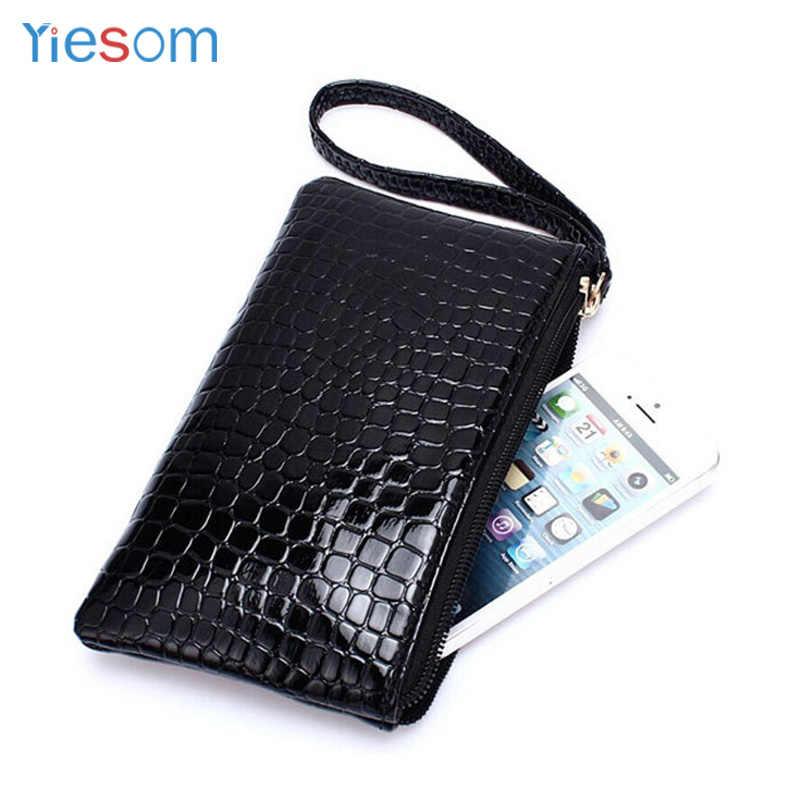 YIESOM Frauen Mode Brieftasche Fall Für iPhone XS XR X 8 7 6 S Telefon Tasche PU Leder Tasche Kleine taschen Für Samsung S10 S9 S8 A50 A30