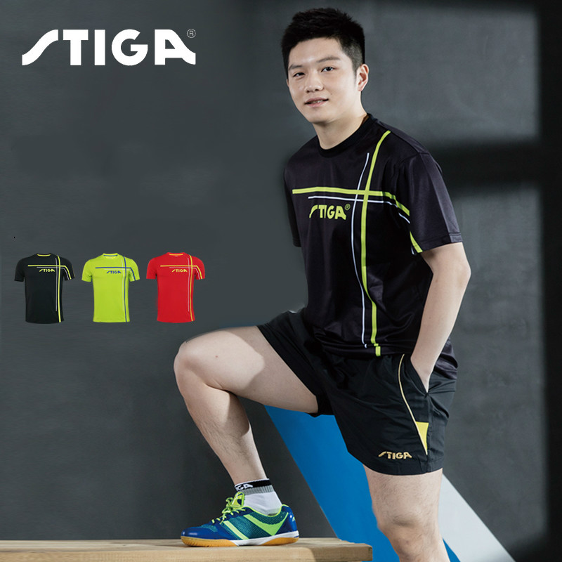 Stiga Sportswear Shirt Table-Tennis-Clothes Original Badminton Ping-Pong Quick-Dry Men